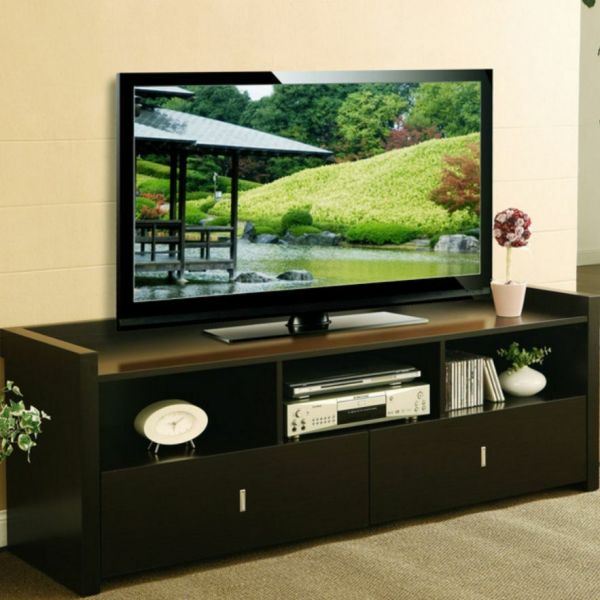 Tv Stand Stands Flat Screens Media Console Table Espresso