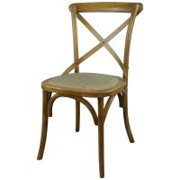 Gainsborough Farmhouse Dark Wooden Cross Back Dining Chair ...