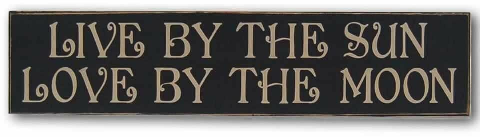 Download Live By The Sun Love By The Moon Wood Sign   eBay