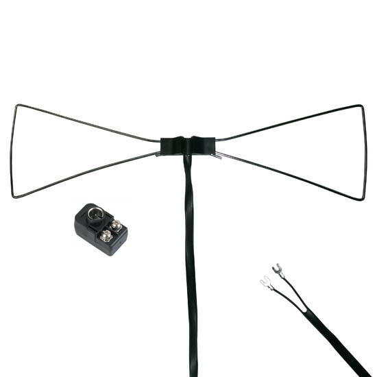 Steren UHF Bow Tie TV Antenna Indoor Outline HDTV Only