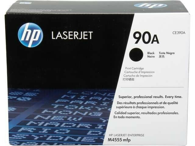Genuine Hp 90a Ce390a Black Original Laserjet Toner