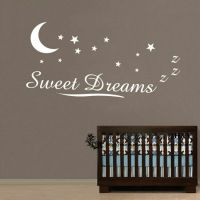 Sweet Dreams Wall Stickers Wall Quotes Kids Baby Nursery ...