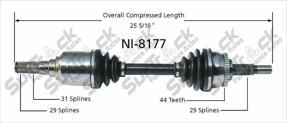 New CV Drive Axle Shaft Fits Infinit I30 Nissan Maxima