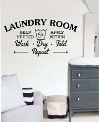 Laundry Room - Wall Art Sticker, Decal Mural, Kitchen ...