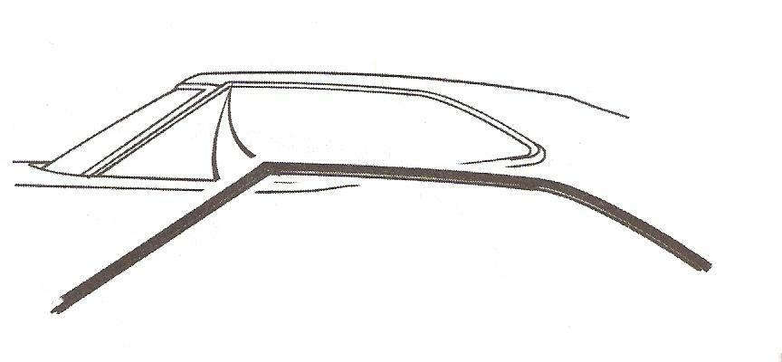 1972-1976 Ford Torino 2 door fastback rubber roof rail