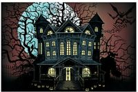 9 FOOT Haunted House Halloween Wall Mural Scene Setter ...