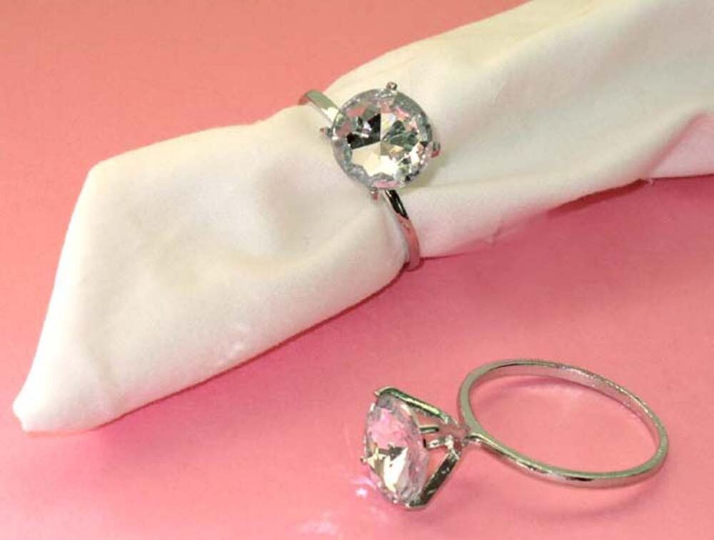 30 Diamond Napkin Rings Bridal Shower Wedding Party