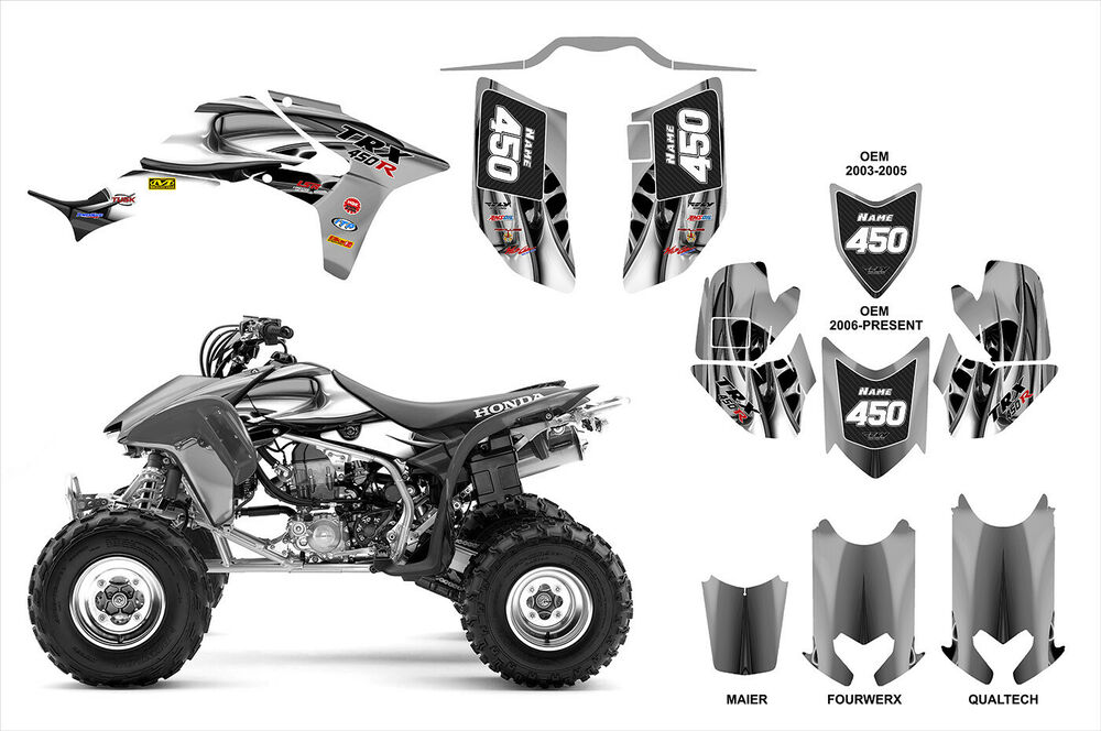 TRX 450R graphics sticker kit for Honda 450 ATV #4444
