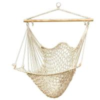 Hammock Cotton Swing Camping Hanging Rope New Chair Wooden ...