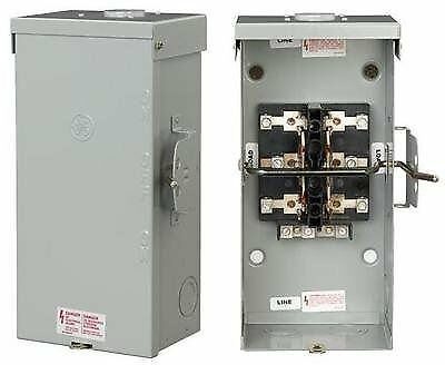 manual generator transfer switch wiring diagram simple vehicle ge tc10323r non-fused emergency power 100a, 120/240v 618125314102 | ebay