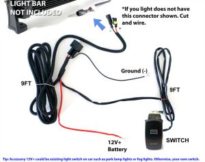 40A Fog Work LED Light Bar Wiring Harness Relay Fuse Kit