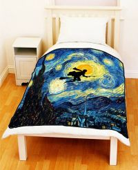 Van Gogh Starry Night HARRY POTTER Bed Throw Fleece ...
