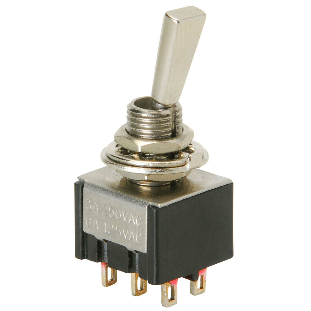 Sub Miniature Toggle Switch Dpdt Onon