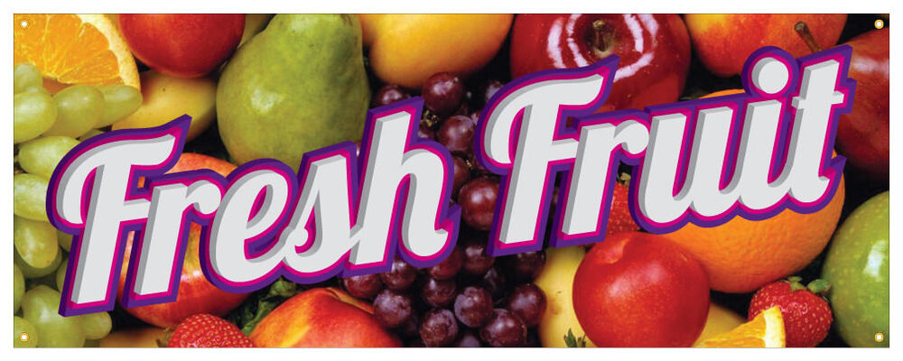 Fresh Fruit Banner Farmers Market Produce Stand Orchard