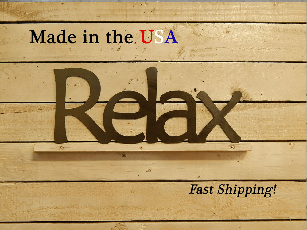 Relax Sign Bathroom Decor Wall Art Relax Decor Indoor Sign Kitchen W1019  eBay