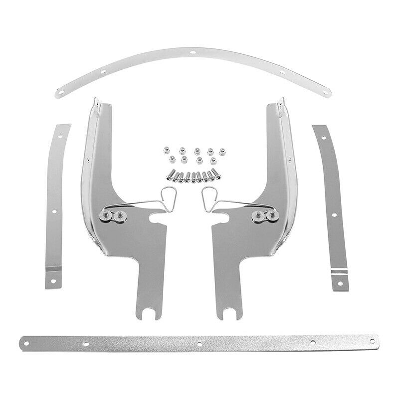 hight resolution of details about windshield windscreen bracket kits for harley touring road king flhr 1994 2019