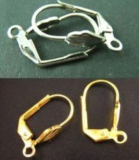 Wholesale 100pcs Silver/ Gold Plated Earring Hooks Jewelry ...