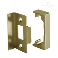 Polished Brass Rebate Kit for Latch on French Doors