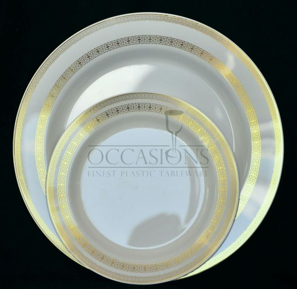 French Collection - Bone Gold Wedding Disposable Plastic