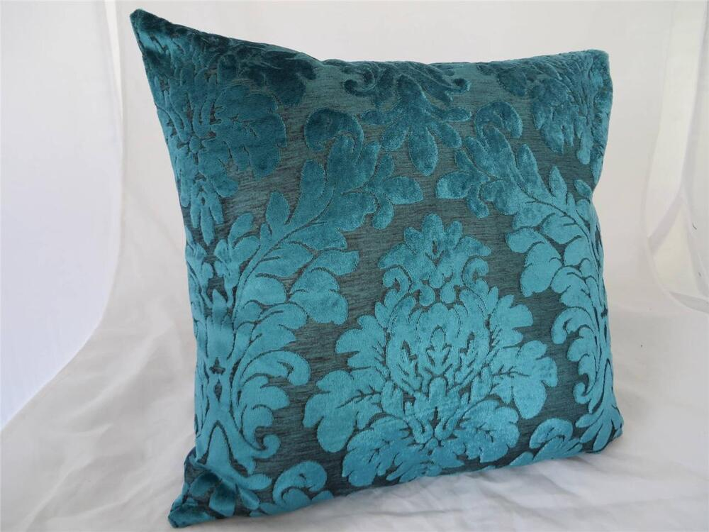 Turquoise Acanthus Classic Velvet Home Decor Cushion Cover