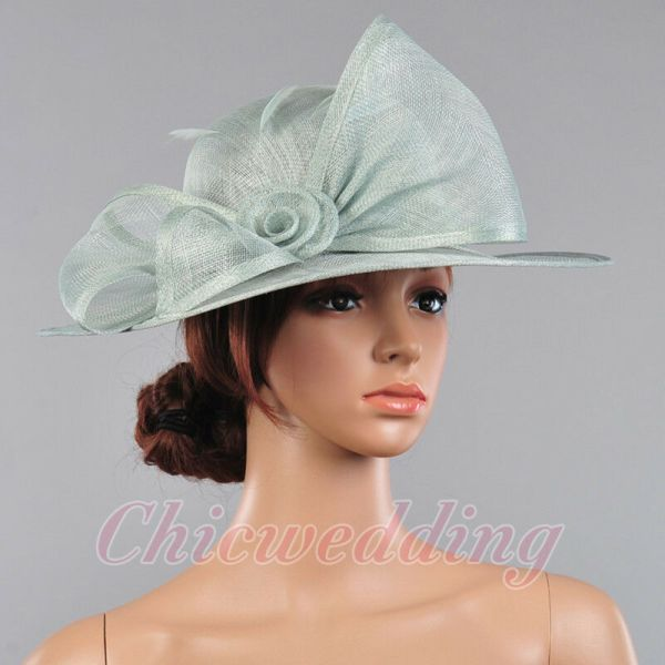 Elegant Church Kentucky Derby Hat Wedding Sinamay Wide