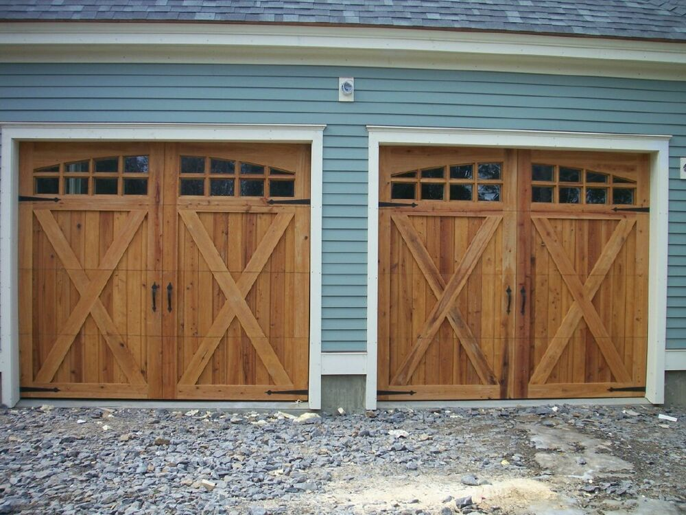 9x8 Cypress Sectional OH Carriage House Garage Door  eBay