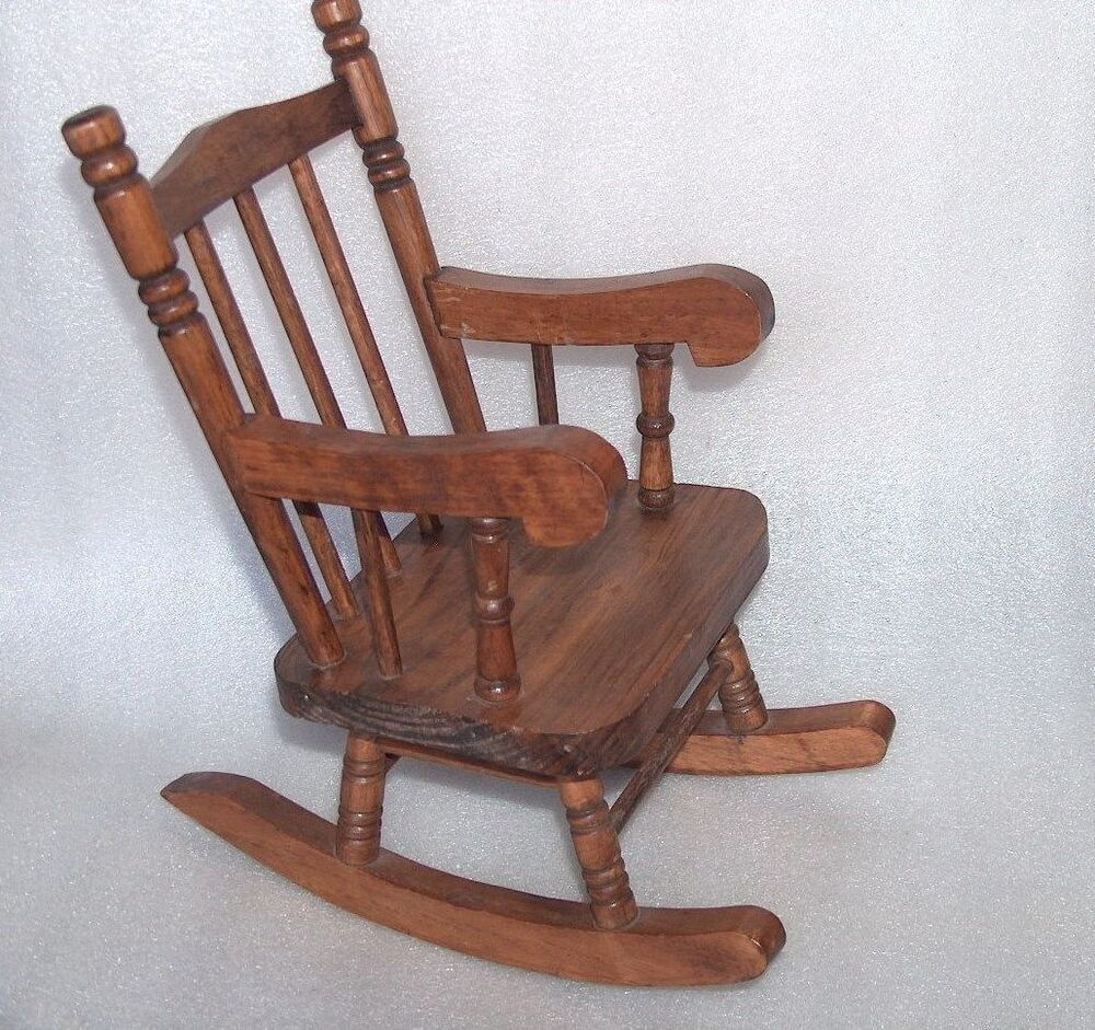 Nice 1990 Heritage Mint Wooden Toy Dolls Rocking Chair  eBay