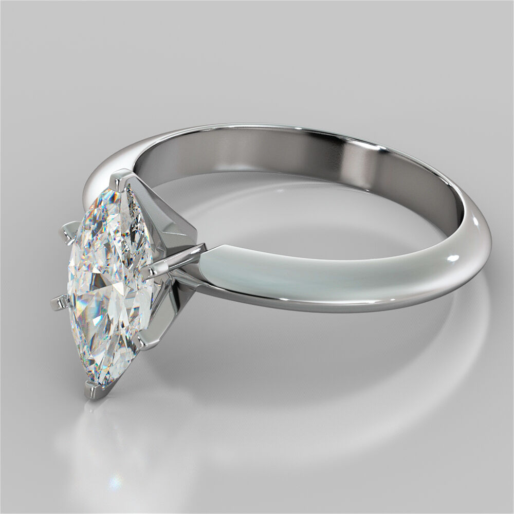 Marquise Cut 6Prong Solitaire Engagement Ring in 14K