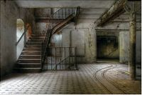 9 FOOT HAUNTED STAIRWELL Wall Mural Halloween Scene Setter
