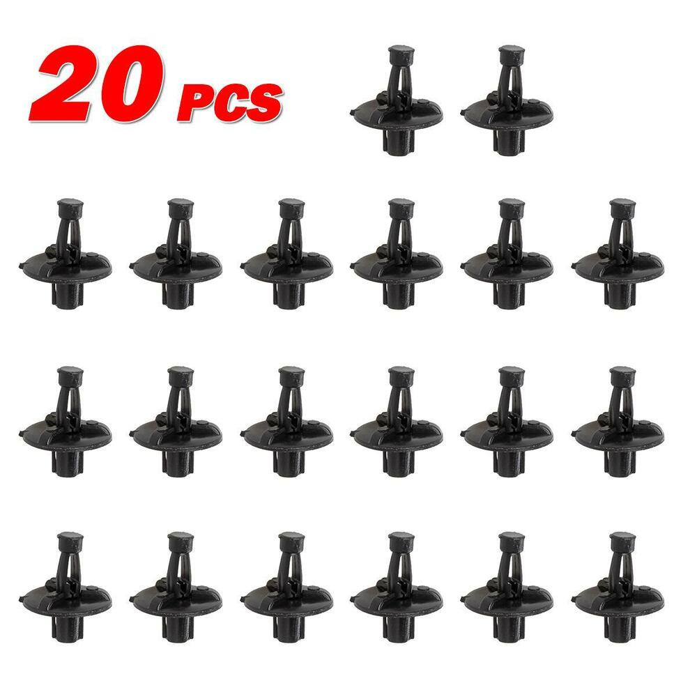 20pcs Engine Cover Push-Type Retainer Nylon Clips Rivet