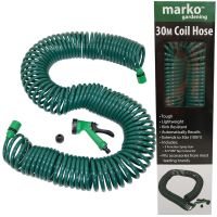 30 METRE COIL HOSE 100FT RETRACTABLE GARDEN HOSE PIPE