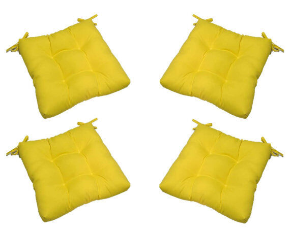 In / Outdoor Tufted Chair Seat Cushion