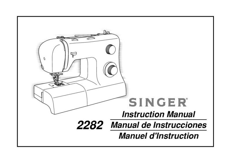 Singer 2282-TRADITION Sewing Machine/Embroidery/Serger