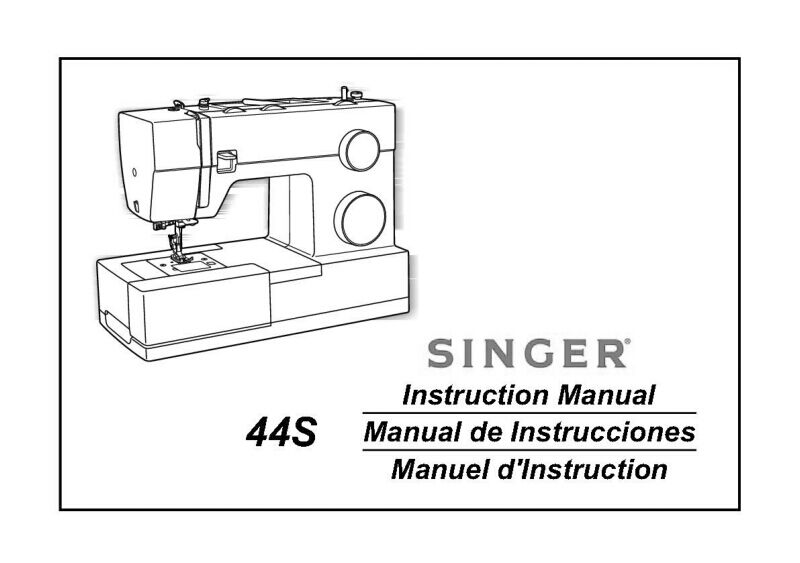 Singer 44S Sewing Machine/Embroidery/Serger Owners Manual