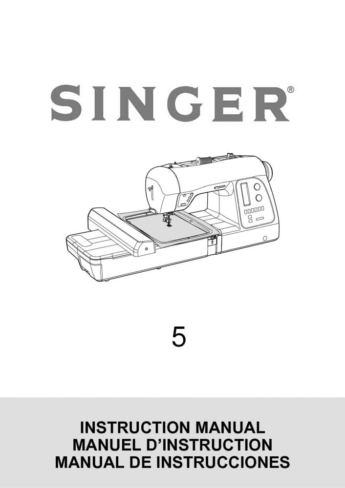 Singer 5-FUTURA-QUINTET Sewing Machine/Embroidery/Serger