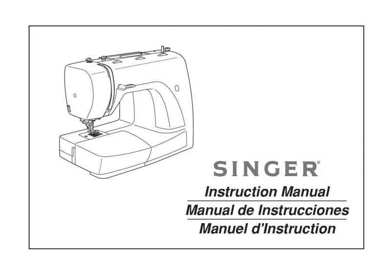Singer 2932 Sewing Machine/Embroidery/Serger Owners Manual