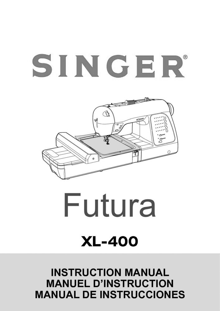 Singer XL-400-FUTURA Sewing Machine/Embroidery/Serger
