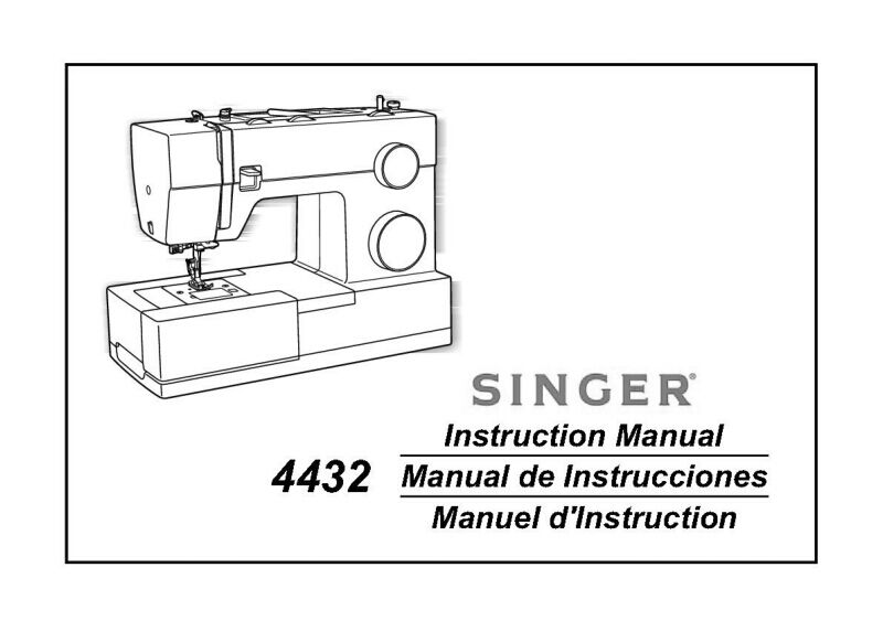 Singer 4432 Sewing Machine/Embroidery/Serger Owners Manual
