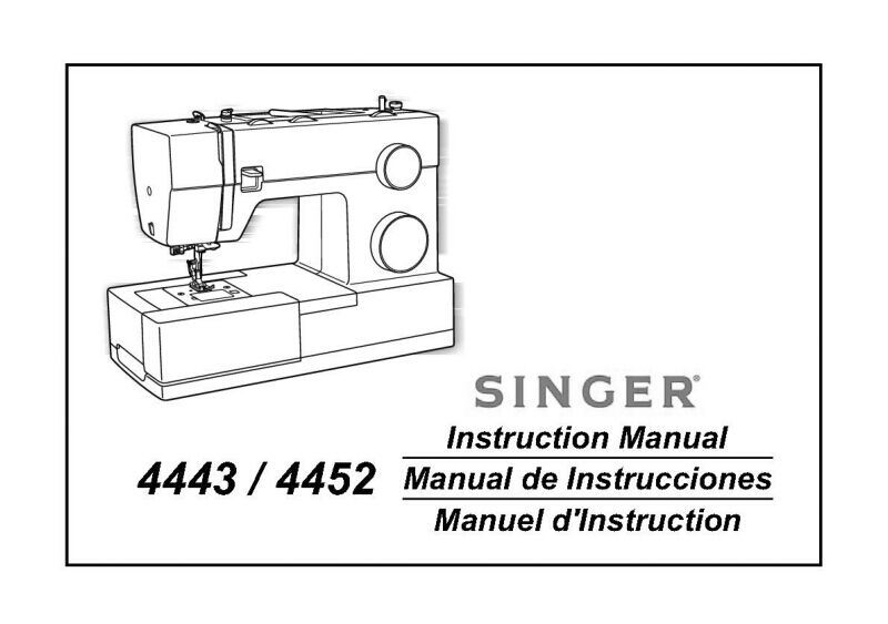 Singer 4443-4452 Sewing Machine/Embroidery/Serger Owners