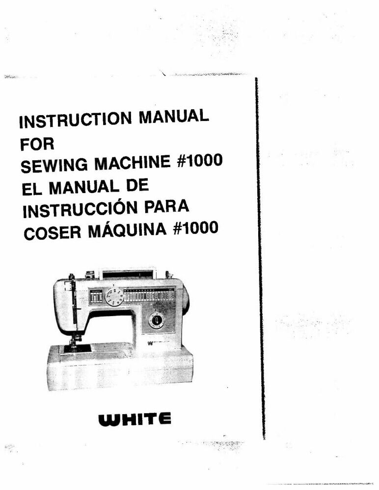 White WW1000 Sewing Machine/Embroidery/Serger Owners