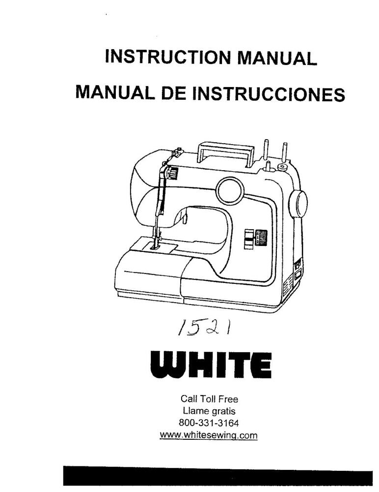 White W1521 Sewing Machine/Embroidery/Serger Owners Manual