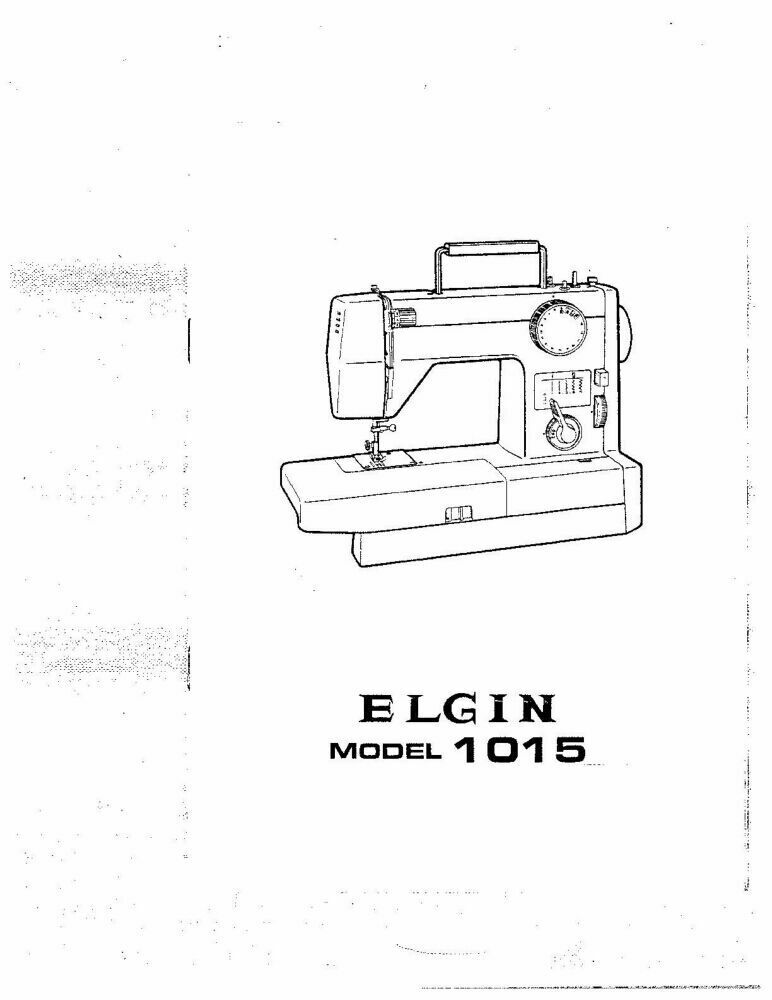 White W1015-Elgin Sewing Machine/Embroidery/Serger Owners