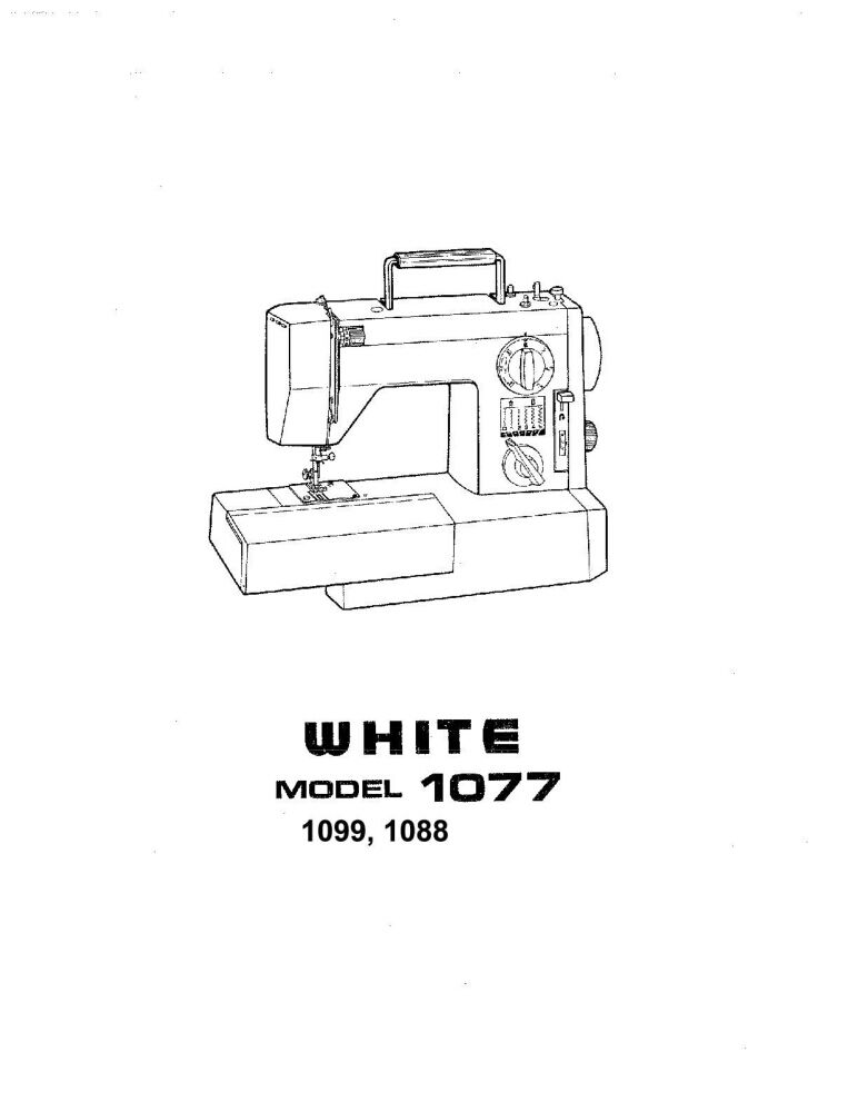 White W1077-W1088-W1099 Sewing Machine/Embroidery/Serger