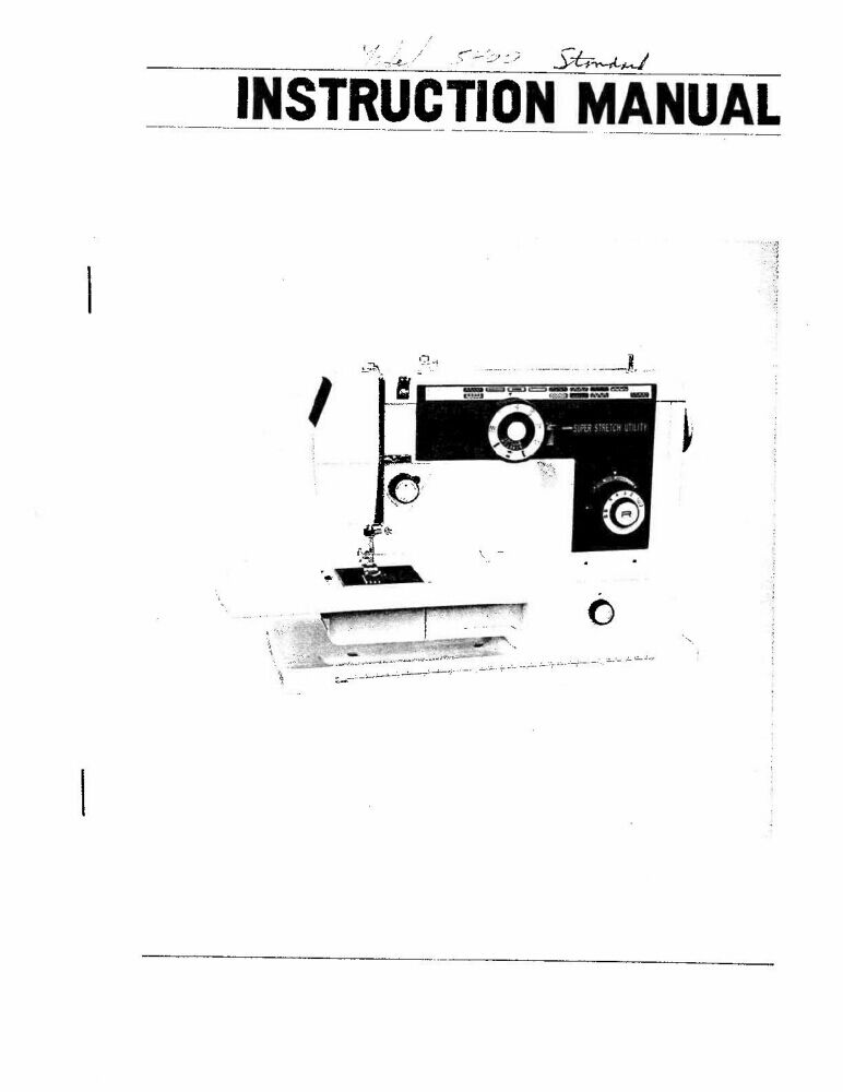 White W5400 Sewing Machine/Embroidery/Serger Owners Manual