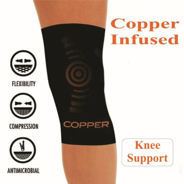 Copper Comfort Infused Knee Compression Sleeve