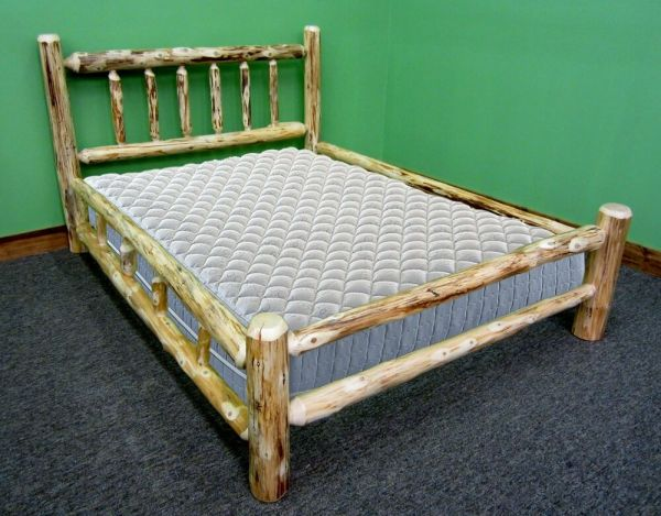 Rustic Log Bed - Twin 399 Double Side Rails
