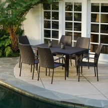 7-piece Outdoor Patio Furniture Brown -weather Wicker