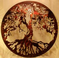 "20"" Tree of Life Silhouette Metal Wall Art Home Decor 