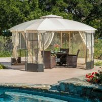 Elegant Outdoor Patio Furniture Steel Canopy Gazebo | eBay
