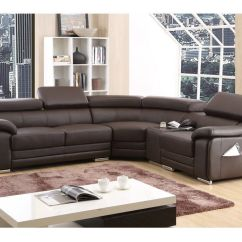 Buy Corner Sofa Uk Gus Modern Jane Loft Bi Sectional Reviews Dakota Brown Bonded Leather Right Hand | Ebay